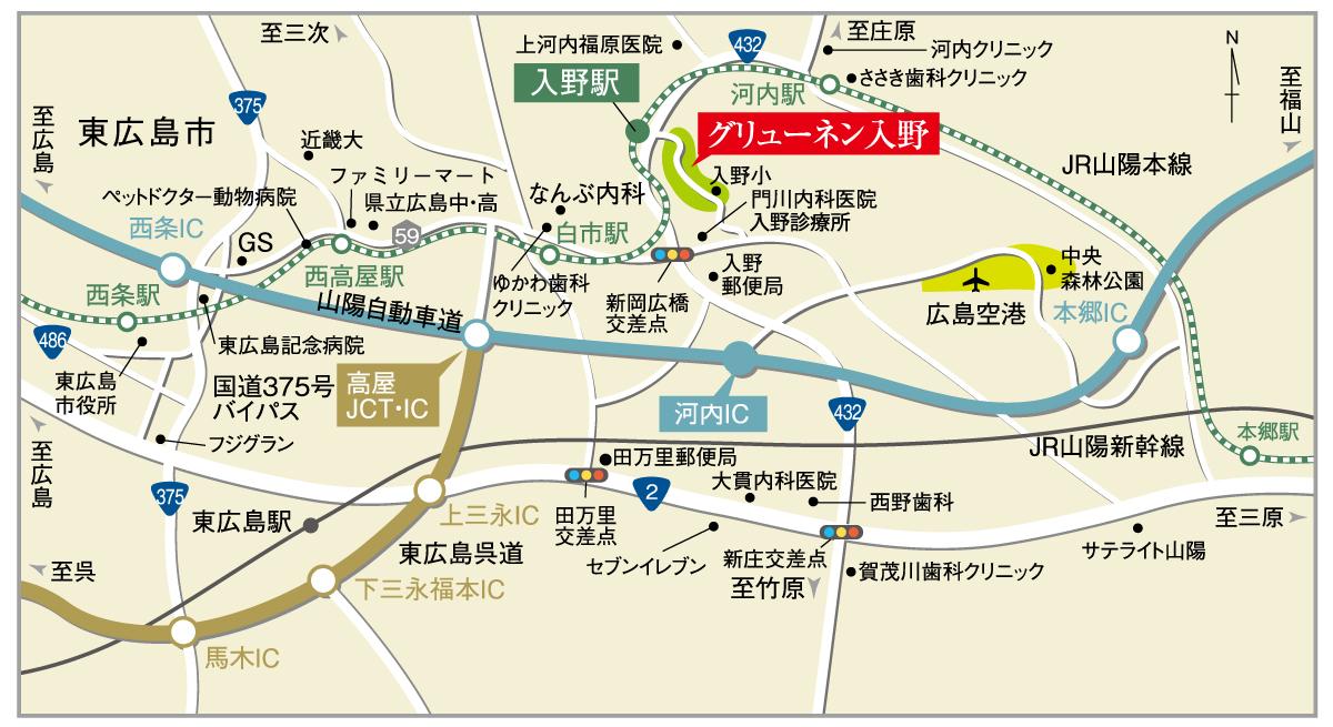 グリューネン入野_MAP